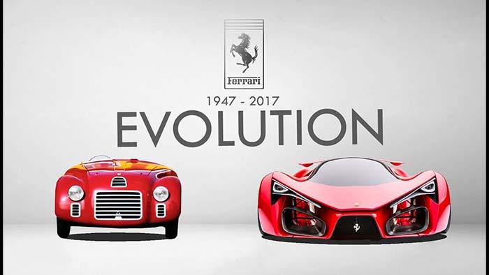 Еволуцијата на Ferrari од 1947 до 2017 година / ВИДЕО