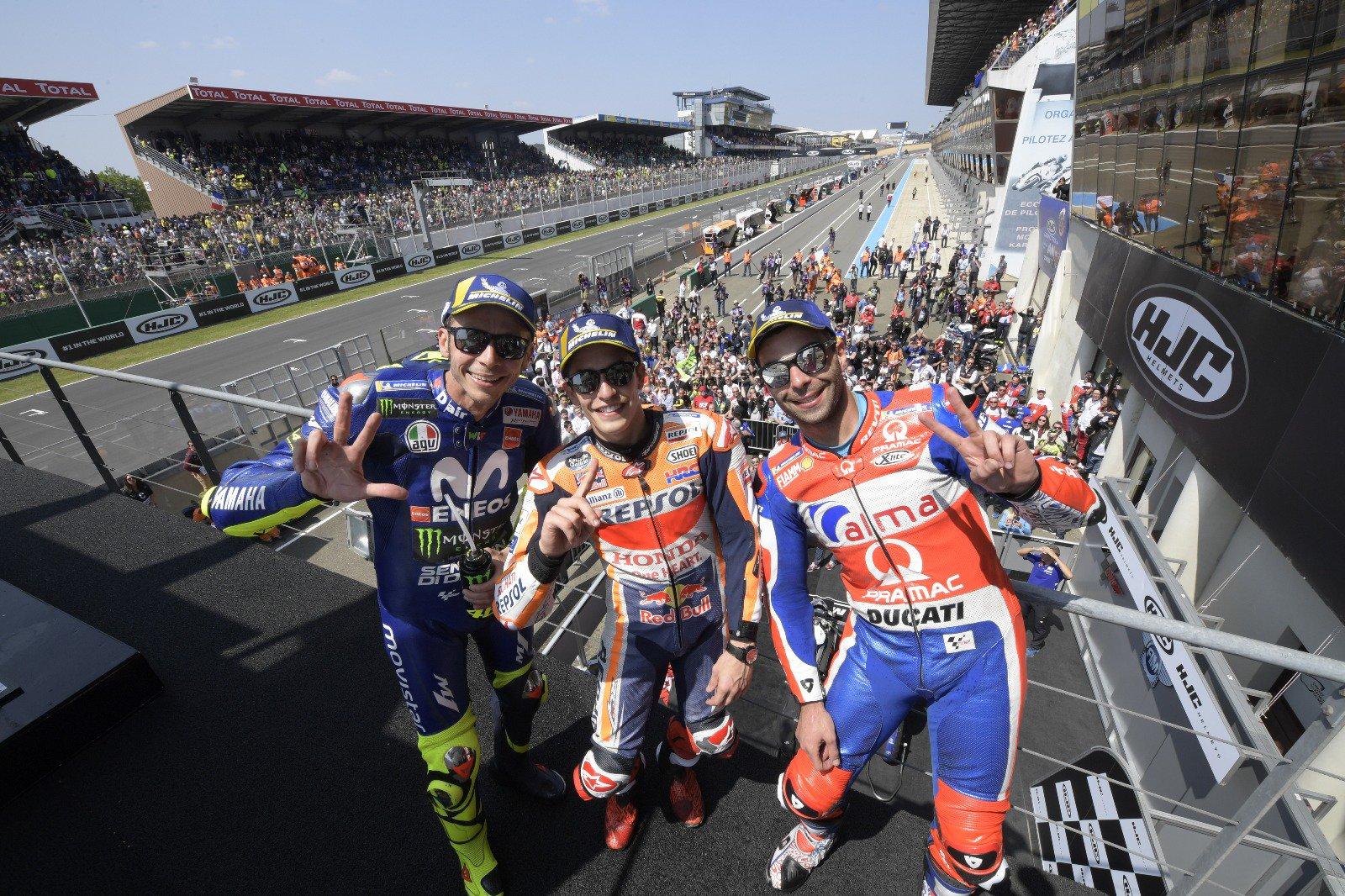 MotoGP: Маркес најбрз и во Франција, Роси повторно на подиумот/ ВИДЕО