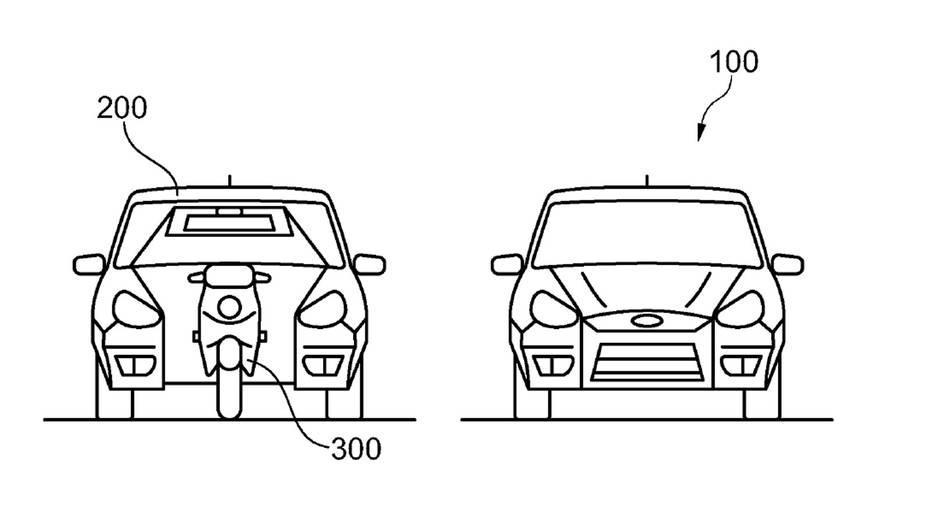 Симбиоза на мотоцикл и автомобил – идеја на Ford во процес на патентирање