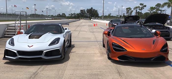 Corvette ZR1 vs McLaren 720S / ВИДЕО