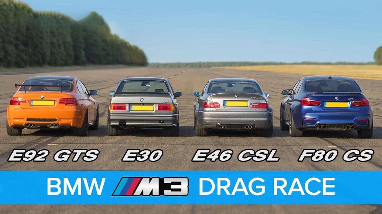 BMW M3 – трка на четири генерации / ВИДЕО