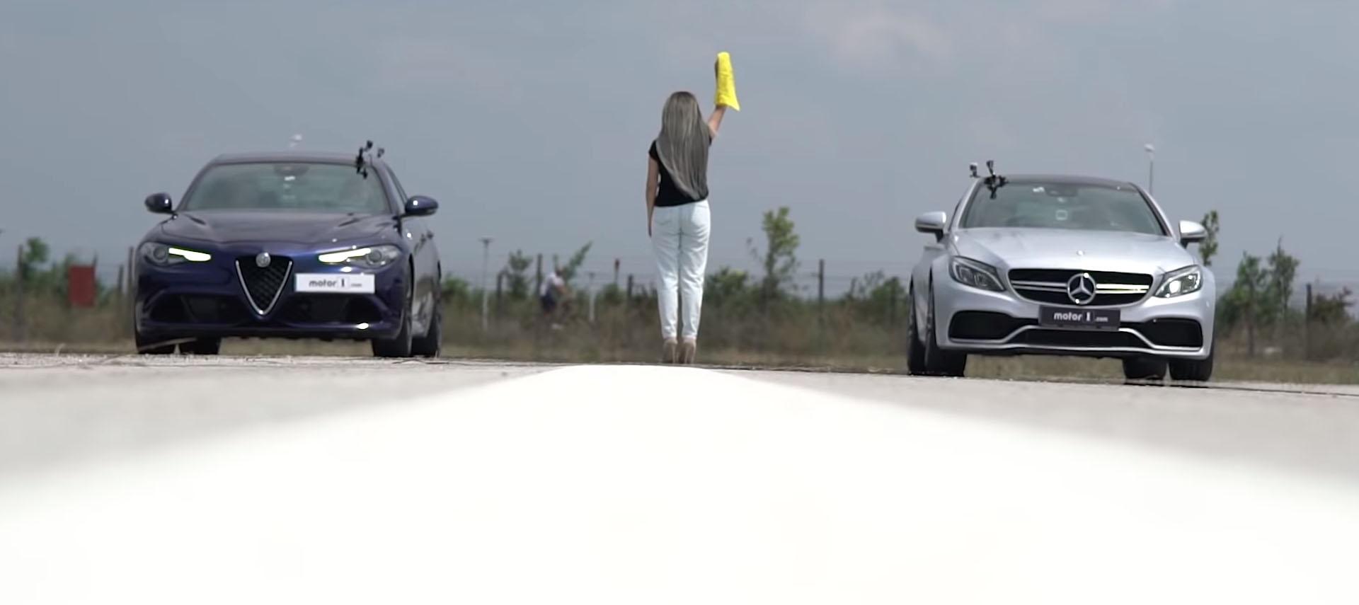 Alfa Romeo Giulia Quadrifoglio vs Mercedes-AMG C63 S Coupe / ВИДЕО