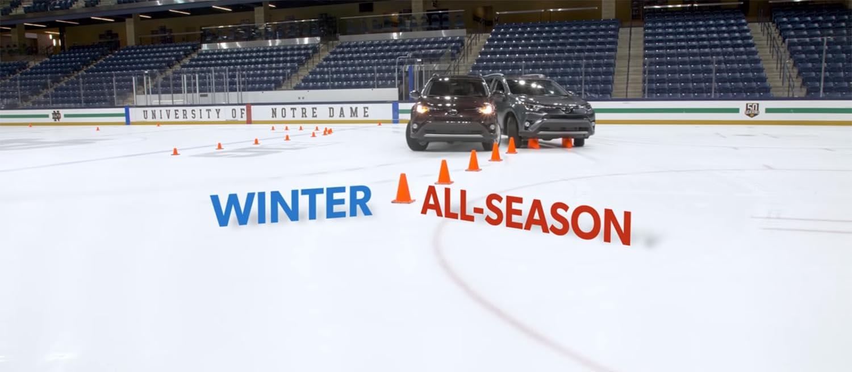 Гуми за сите сезони vs зимски гуми на мраз / ВИДЕО