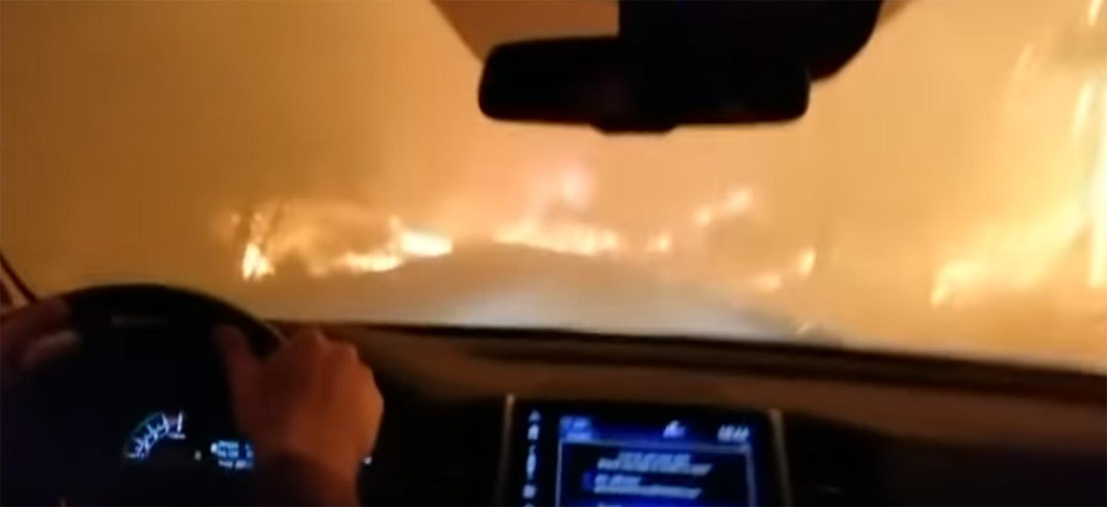 Kако изгледа бегањето со автомобил од Калифорнискиот пекол? / ВИДЕО