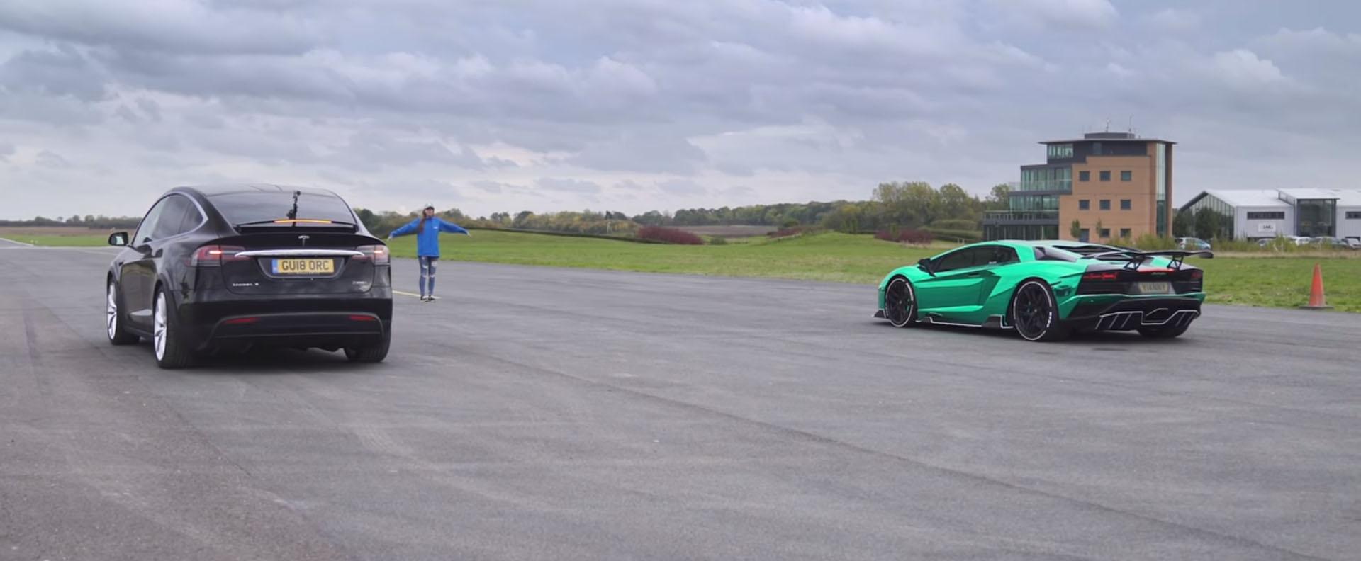 Може ли Tesla Model X (P100D) да го надмине Lamborghini Aventador S? / ВИДЕО