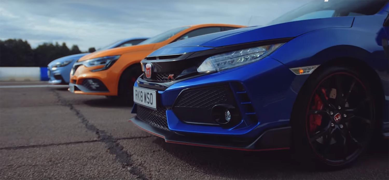 Директна пресметка: Honda Civic Type R, Hyundai i30N и Renault Megane RS