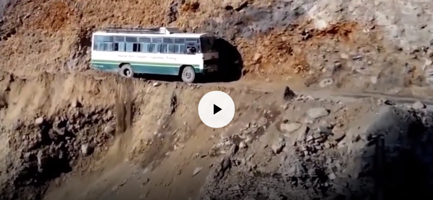 Навистина опасни патишта КАРАМБОЛ / ВИДЕО