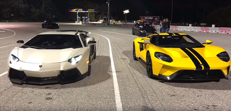Lamborghini Aventador е посилен, а Ford G е полесен – кој е побрз? / ВИДЕО