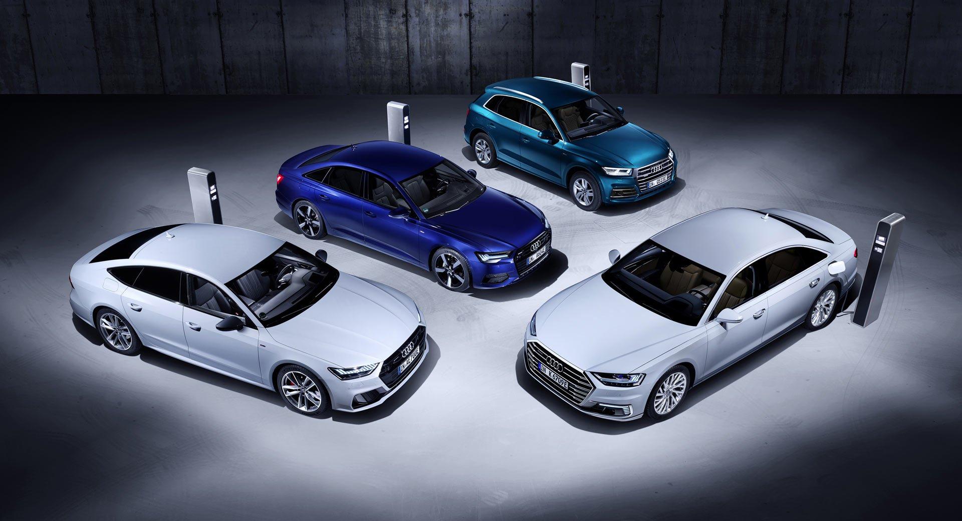 Четири нови хибриди од Audi