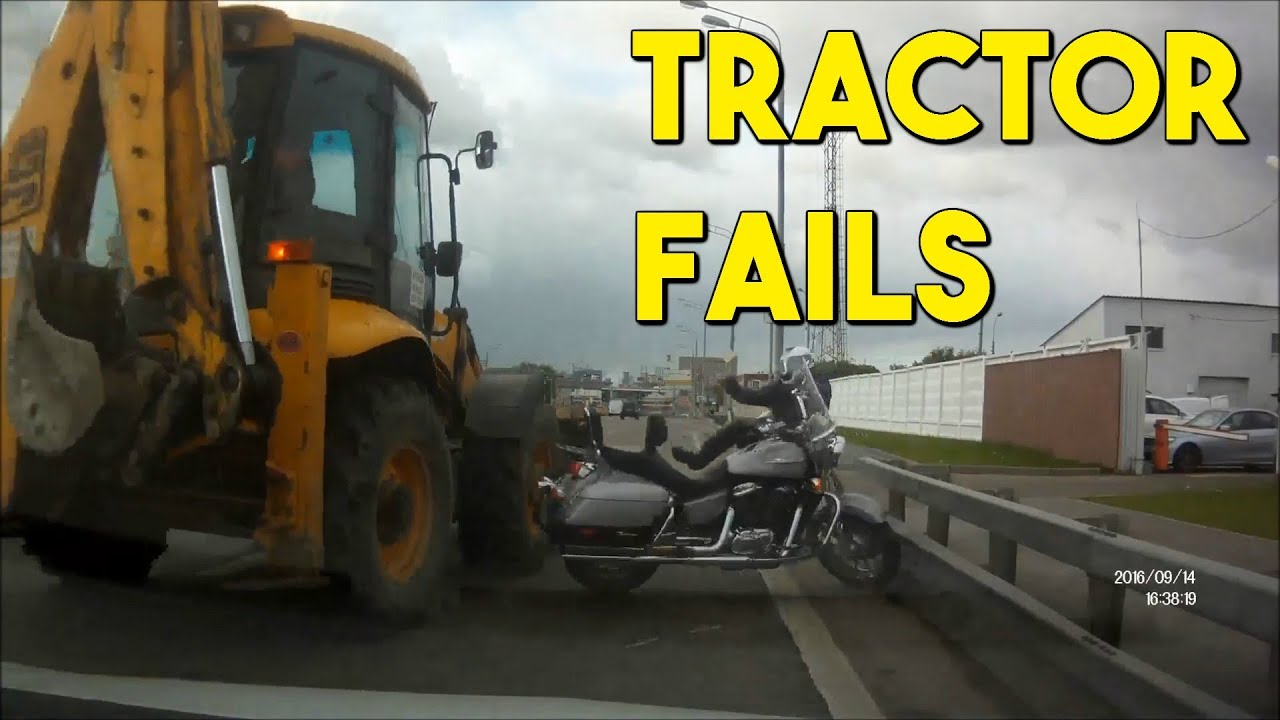Не се зезај со трактори и багери КАРАМБОЛ / ВИДЕО