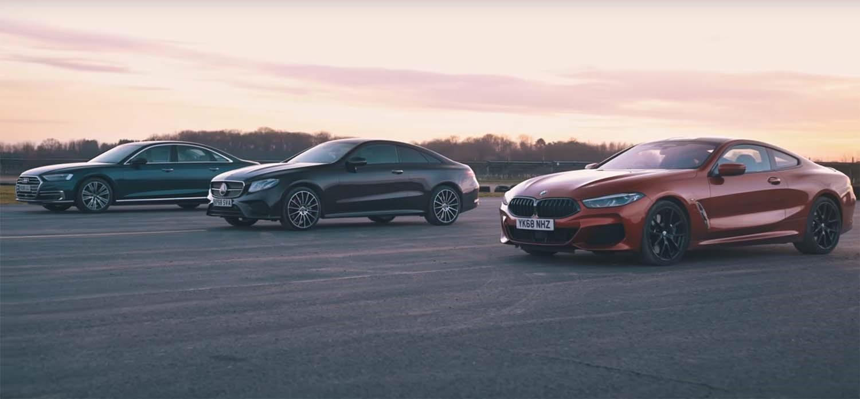 """Дизелски """"Star Wars"""" – Audi A8, Mercedes E400 или BMW 8-Series? / ВИДЕО"""