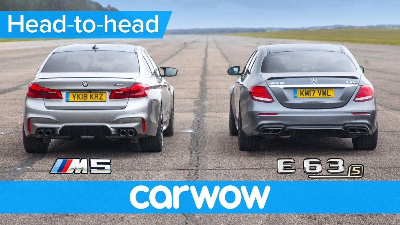 BMW M5 Vs. Mercedes-AMG E63 S / ВИДЕО