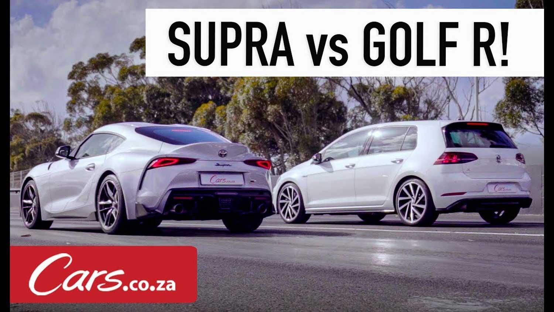 Toyota Supra vs Volkswagen Golf R