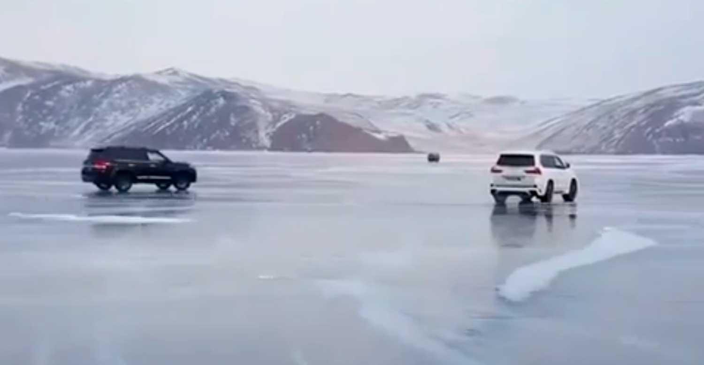 Двајца Руси дрифтаа на замрзнатото езеро… со лош завршеток