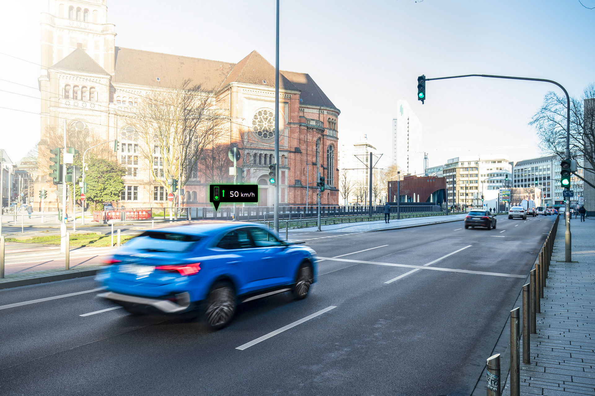 Автомобилите на Audi комуницираат со семафорите, a еве и како / ВИДЕО
