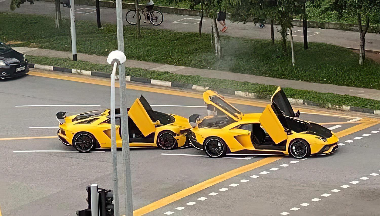 """Скап судир на Lamborghini """"близнаци"""" / ВИДЕО"""