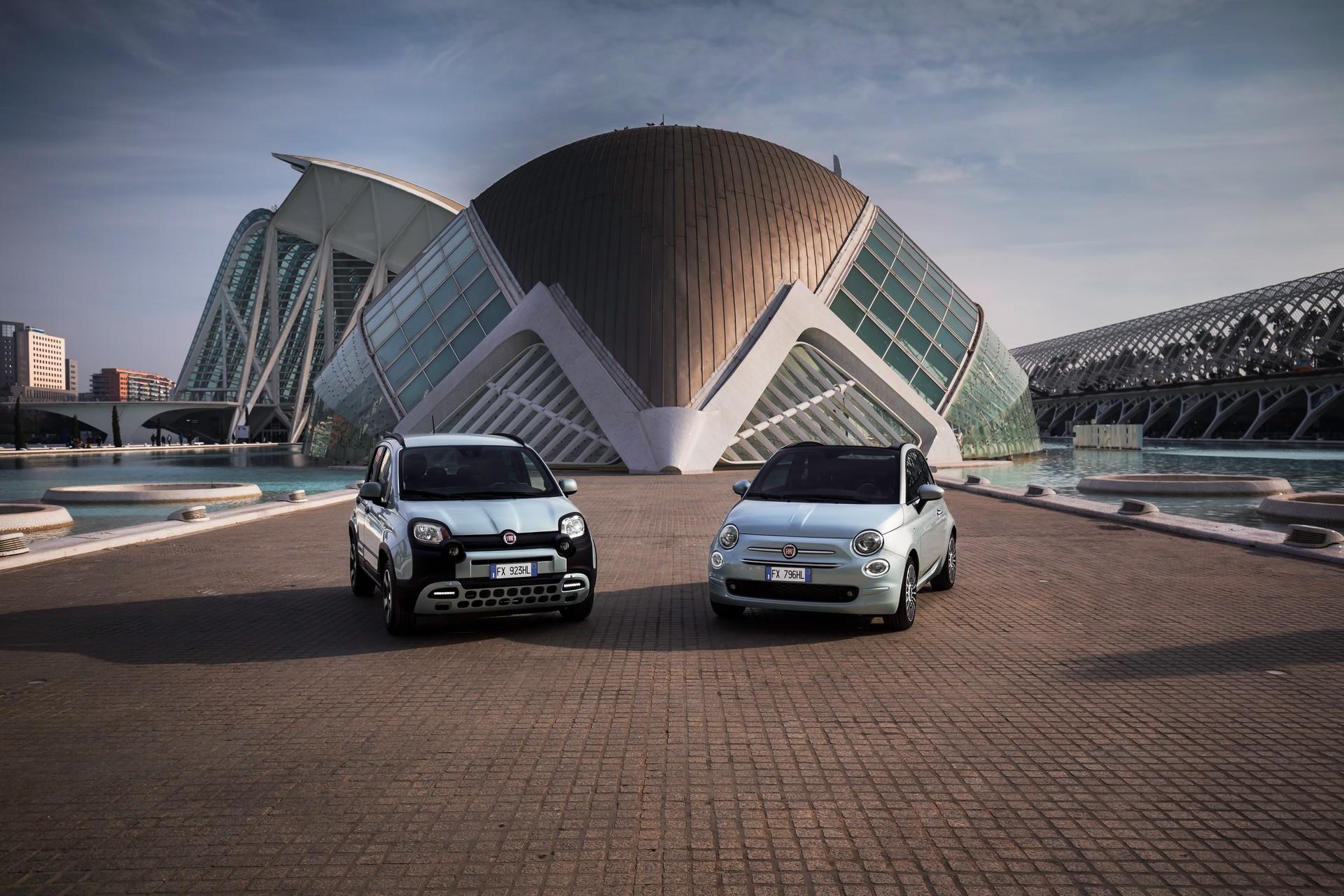 Хибридните Fiat 500 и Panda со ултравиолетово осветлување