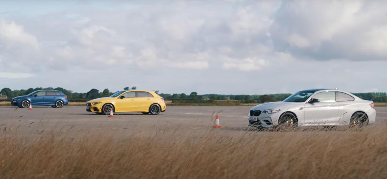 BMW M2 CS, AMG A45 S или Audi RS3 / ВИДЕО