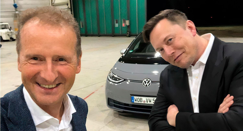 Илон Маск тестираше електричен Volkswagen / ВИДЕО
