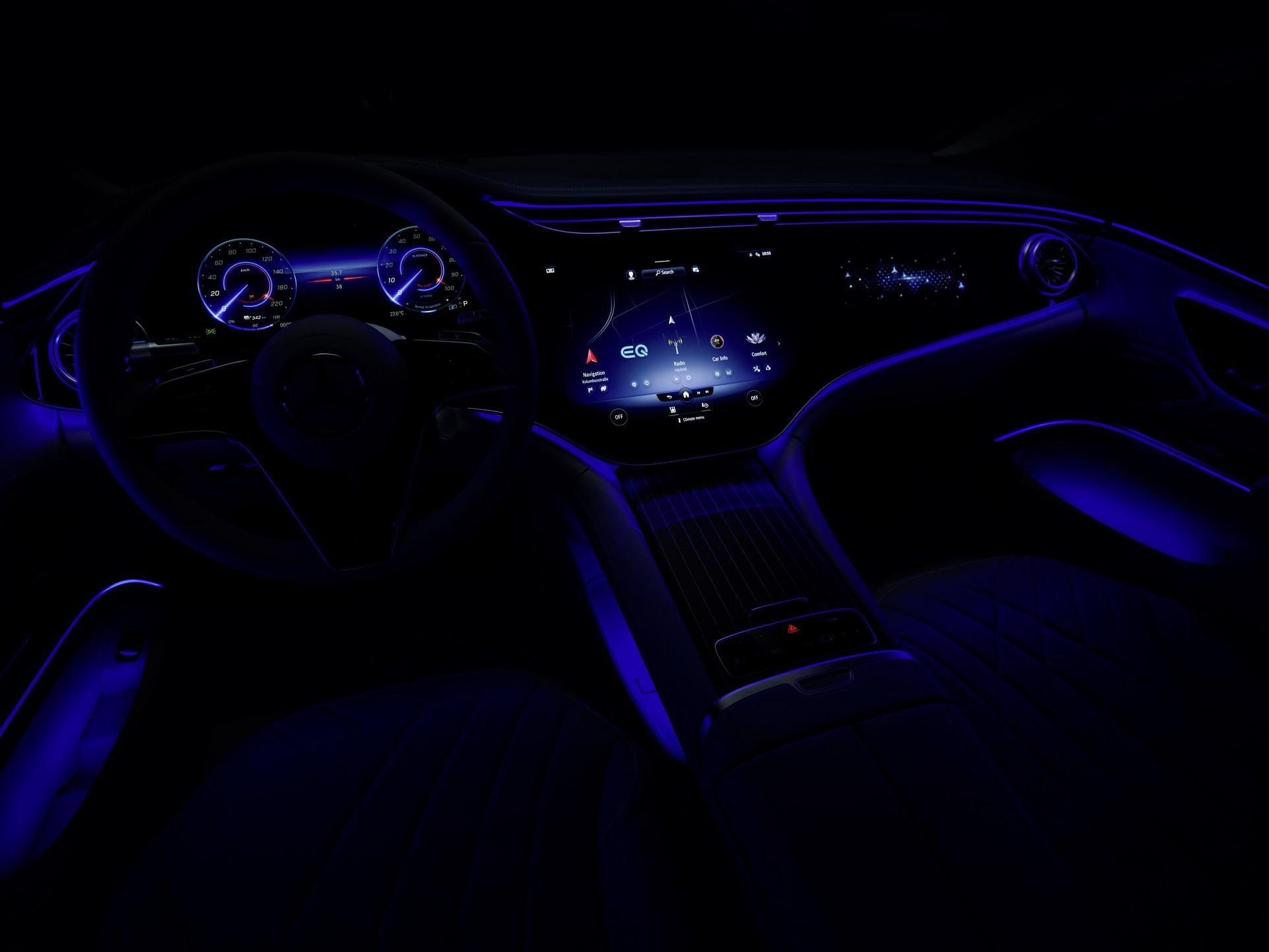 Ова е салонот на Mercedes EQS, најлуксузниот електричен модел на денешницата