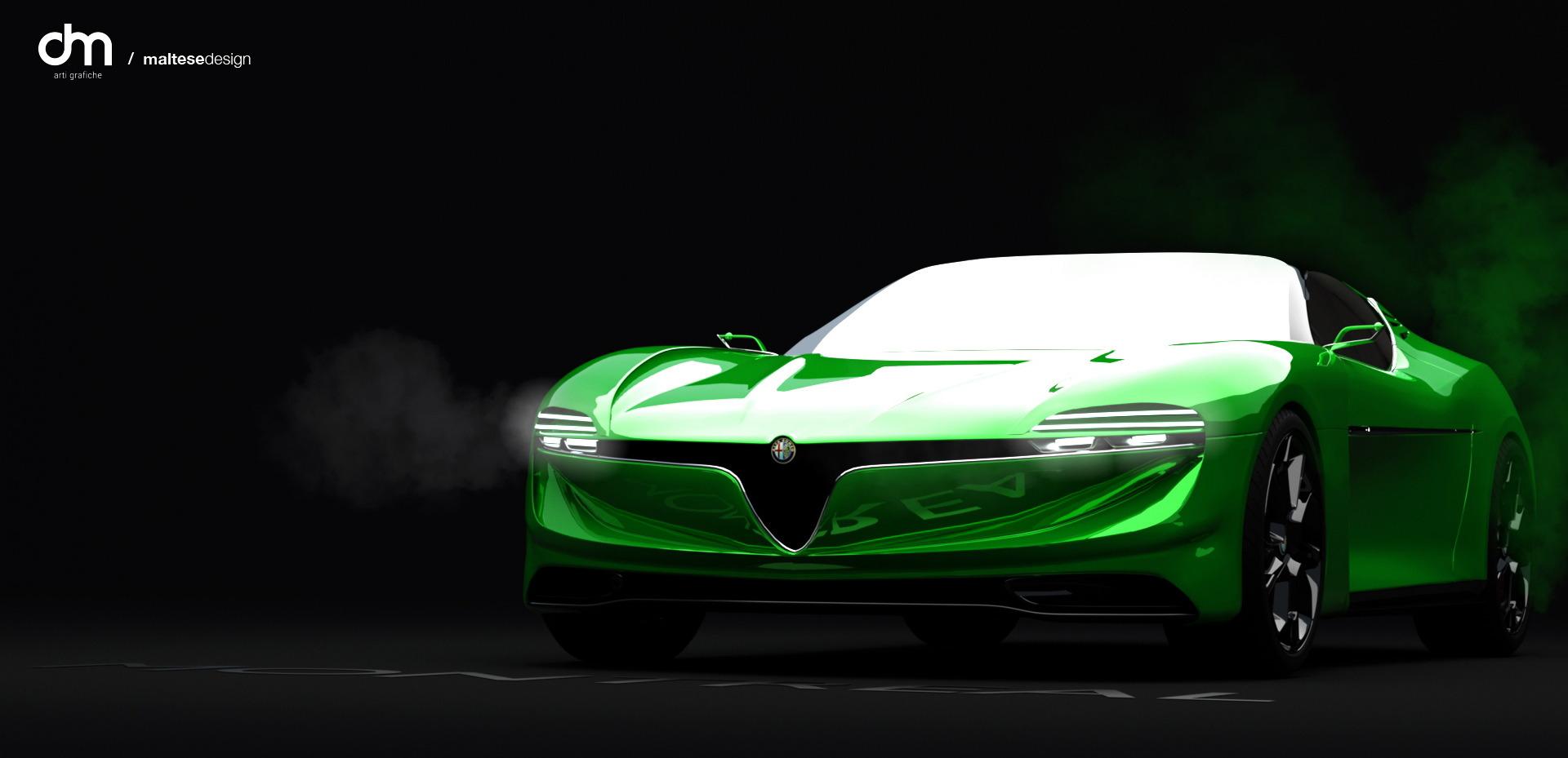 Рендер: Современ дизајнерски пристап кон култната  Alfa Romeо Montreal!