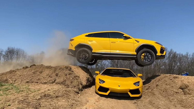 Еден од најскапите теренци прескокна еден од најскапите спортски автомобили / ВИДЕО