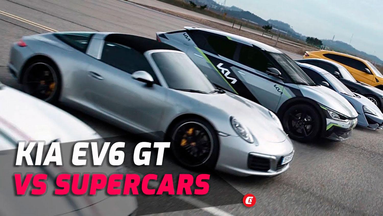 """Kia EV6 GT во """"битка"""" со пет суперавтомобили / ВИДЕО"""