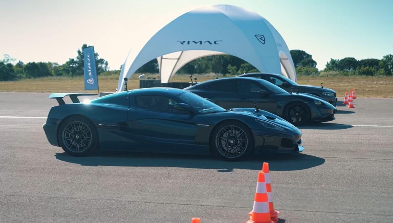 Porsche и BMW без шанси против Rimac Nevera / ВИДЕО