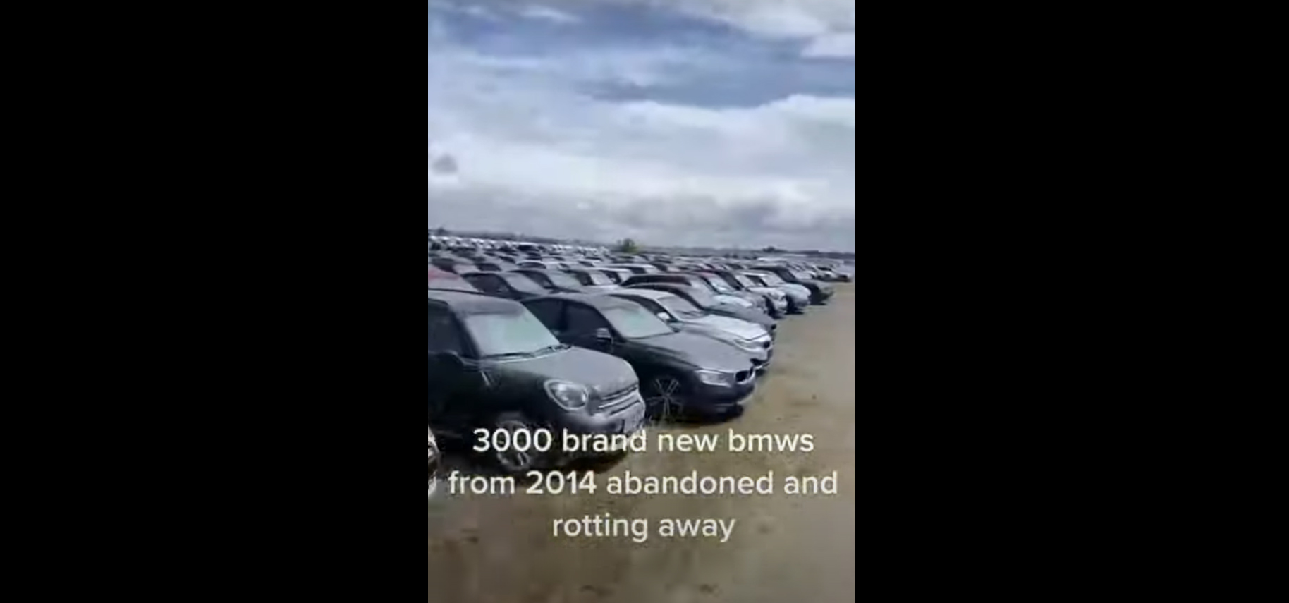 Паркинг со заборавени 3000 невозени BMW и Mini автомобили / ВИДЕО