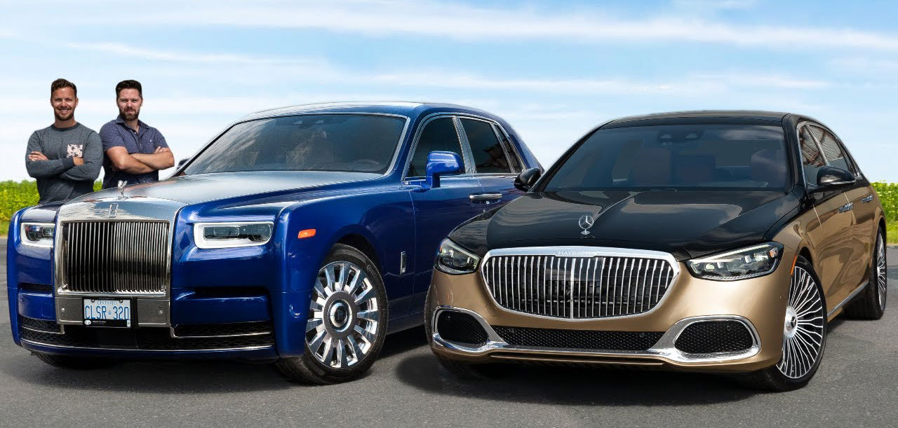 Rolls-Royce Phantom vs Mercedes-Maybach S580 / ВИДЕО