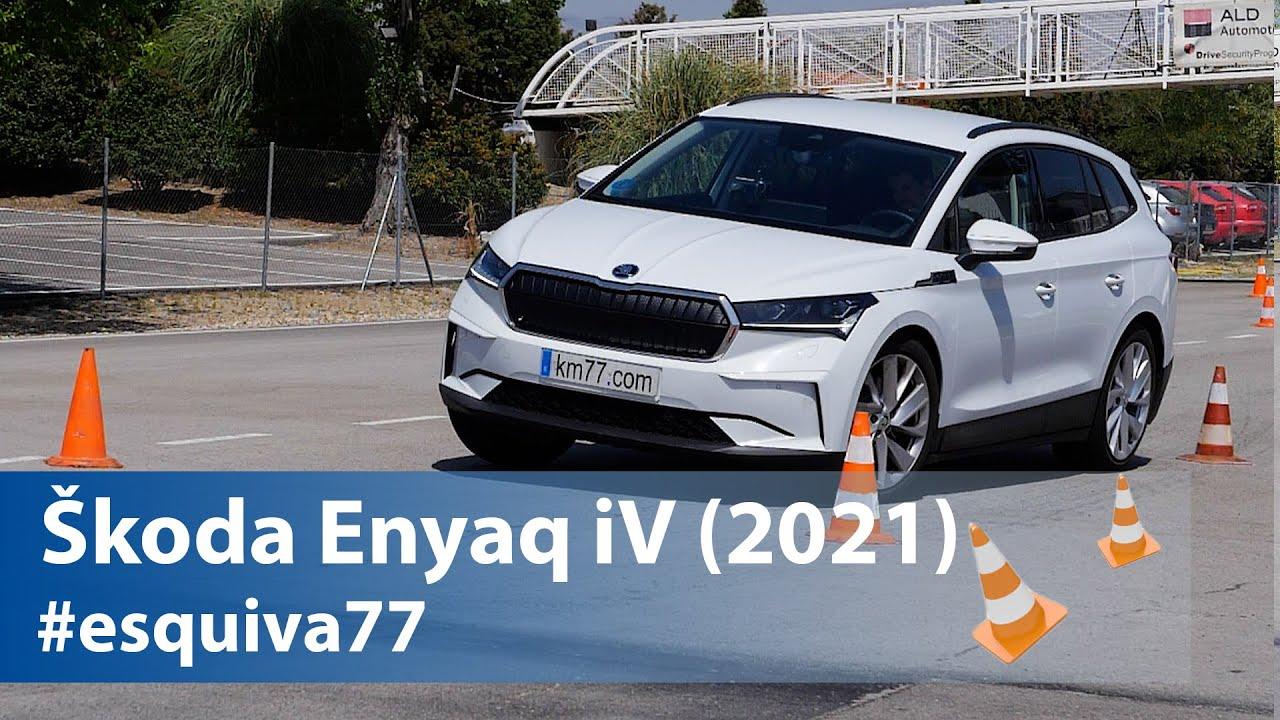 """Škoda Enyaq iV на тестот за стабилност на """"северниот елен"""" / ВИДЕО"""